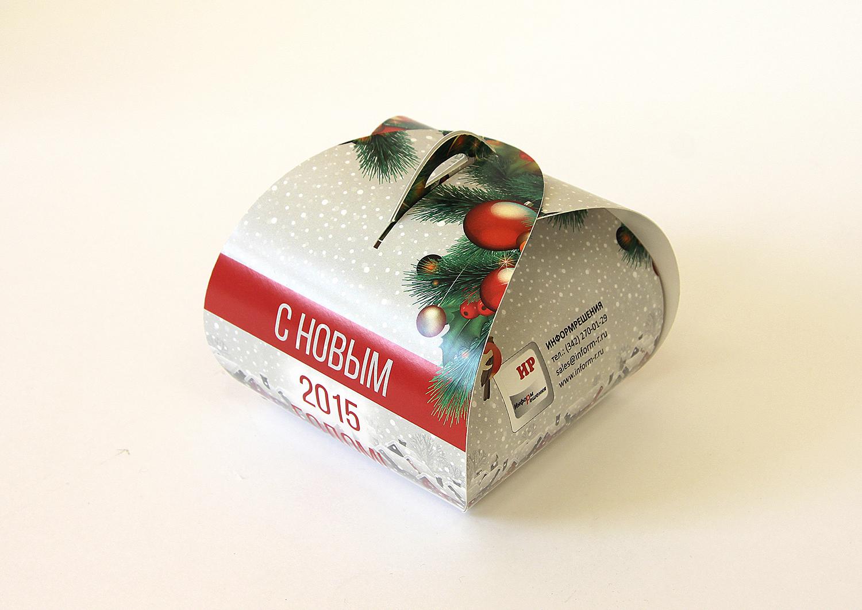 Оригинальная коробка Новый год